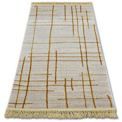 Koberec ACRYLOVY MANYAS 191AA Slonová kost/Zlato fringe