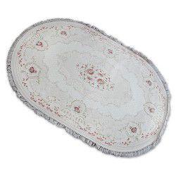 Carpet ACRYLIC Oval MIRADA 0132 Cream ( Pembe ) Fringe