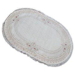 Teppich ACRYL Oval MIRADA 0082 Sahne / Rosa ( Mavi ) Franse