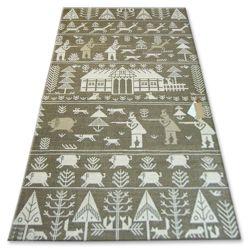 Carpet FOLK POLOWANIE beige