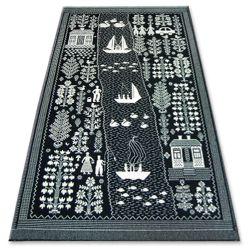 Carpet FOLK ECHO black