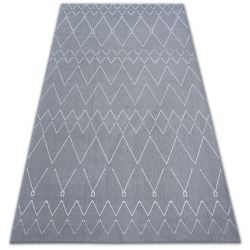 Carpet SENSE Micro 81249 ZIGZAG ETHNO silver/white