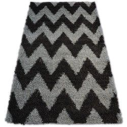 Tapis SHAGGY GALAXY ZIGZAG - 8176 gris anthracite