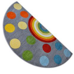 Carpet PAINT semicircle G4779 - Rainbow grey/cream
