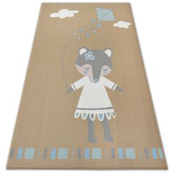 Carpet for kids LOKO Mouse beige Anti-slip
