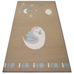 Килим для дітей LOKO птах бежевий анти-ковзання