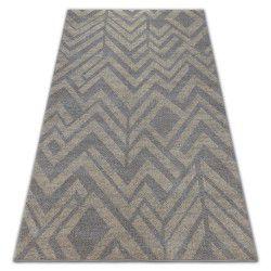 Carpet SOFT 8028 ETHNO HERRINGBONE brown / beige