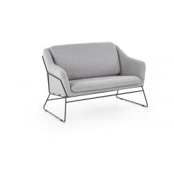 Fotel wypoczynkowy podwójny SOFT 2 XL jasny popiel SOFA
