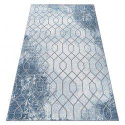 Akril valencia szőnyeg 3951 HEKSAGON kék / szürke