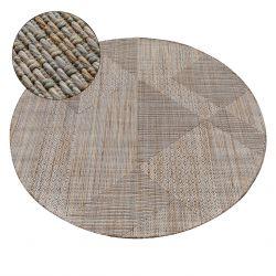Kulatý koberec NATURE SL110 béžový TĚTIVA SISAL BOHO