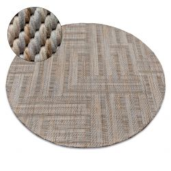 Carpet NATURE circle SL150 beige SIZAL BOHO