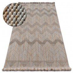 Carpet NATURE SL100 beige fringe SIZAL BOHO