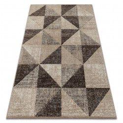 Alfombra FEEL 5672/15055 Triángulos beige/marrón/crema
