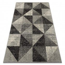 Tappeto FEEL 5672/16811 TRIANGOLI grigio / anthracite / crema