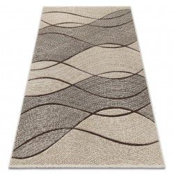 Tapis FEEL 5675/15033 VAGUES marron / beige / gris