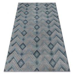 Ковер SIERRA G5015 елочка плоский тканый синий