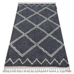 Tappeto BERBER ASILA B5970 grigio / bianco Frange berbero marocchino shaggy