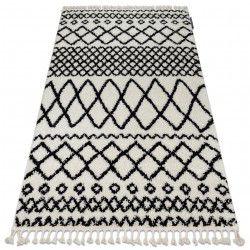 Tappeto BERBER SAFI N9040 bianco / nero Frange berbero marocchino shaggy