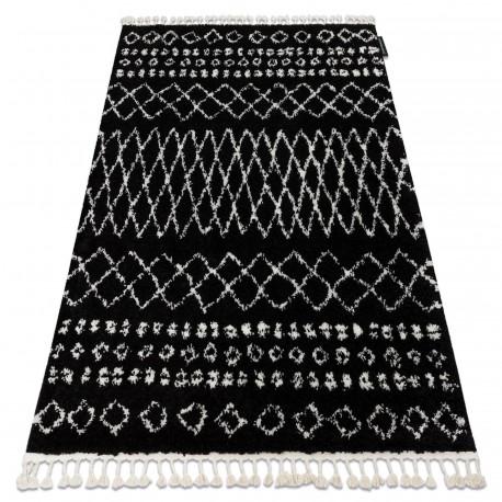 Tappeto BERBER ETHNIC G3802 nero / bianco Frange berbero marocchino shaggy