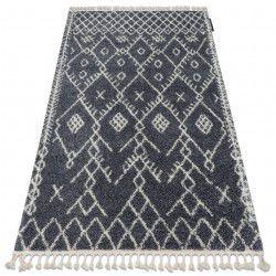 Tappeto BERBER TANGER B5940 griggio / bianco Frange berbero marocchino shaggy