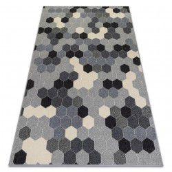 Alfombra HEOS 78537 Hexágono gris/crema