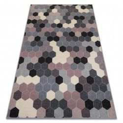 Ковер HEOS 78537 серый / розовый / крем Гексагон