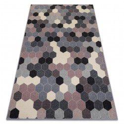 Teppich HEOS 78537 grau / rosa / creme HEXAGON