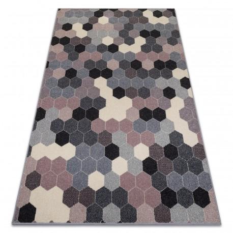 Carpet HEOS 78537 grey / pink / cream HEXAGON