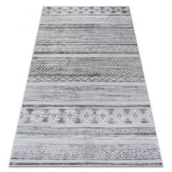Dywan NOBIS 84245 srebrny - ZYGZAK