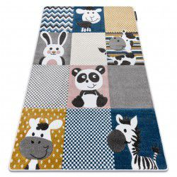 Carpet PETIT ZOO ANIMALS cream / grey