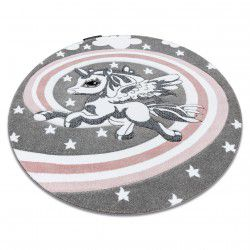 Carpet PETIT PONY circle grey