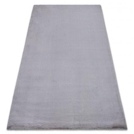 Carpet BUNNY silver IMITATION OF RABBIT FUR