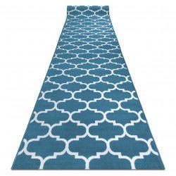 Alfombra de pasillo BCF ANNA TRELLIS 2960 azul koniczyna marokańska