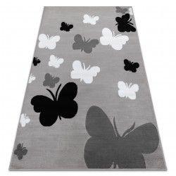 Tappeto BCF ANNA Butterfly 2650 Farfalle grigio / grigio scuro