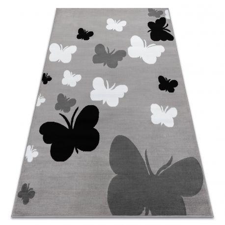 Килим BCF ANNA Butterfly 2650 Метелики сірий / темно-сірий