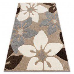 Teppich FEEL 1602/15055 Blumen beige / grau