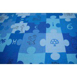 Moqueta PUZLE azul