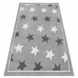 Килим BCF ANNA Stars 3105 зірок сірий / темно-сірий