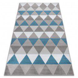 Dywan BCF ANNA Triangles 2965 Trójkąty niebieski
