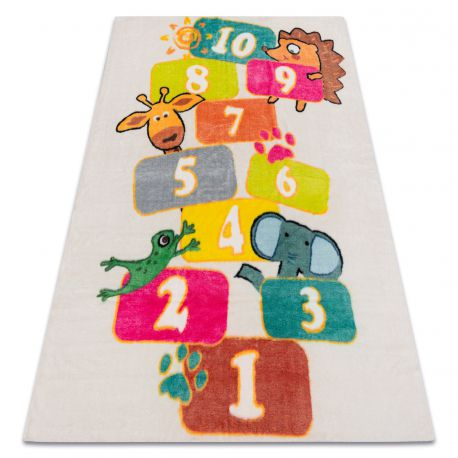 Carpet PLAY hopscotch digits animals G3554-2 cream