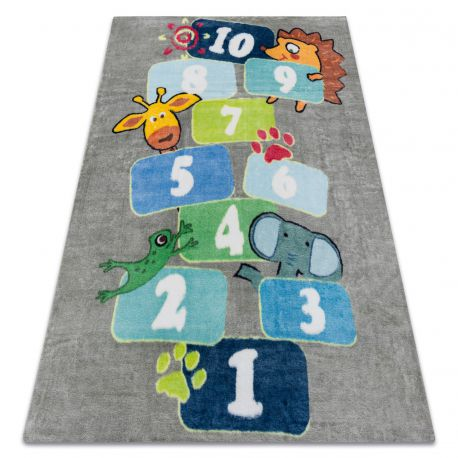 Carpet PLAY hopscotch digits animals G3554-4 grey