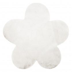 Tapis NEW DOLLY fleur G4372-3 blanc IMITATION DE FOURRURE DE LAPIN
