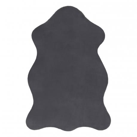 Tappeto NEW DOLLY pelle G4337-2 grigio antracite IMITAZIONE PELLICCIA DI CONIGLIO