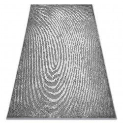 Koberec ACRYLOVY YAZZ W8540 otisk prstů šedá