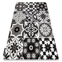 Teppich ALTER Porto Blumen grau