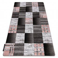 Tapis ALTER Siena carrés treillis gris