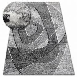 Kulatý koberec SHADOW 8594 bílá / vizon