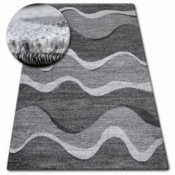 Kulatý koberec SHADOW 8649 černá / světle šedá
