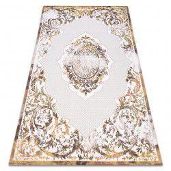 Carpet ACRYLIC DIZAYN 6166/0243 ivory / yellow