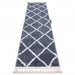 Szőnyeg, Futó szőnyegek BERBER CROSS szürke - a konyhához és a folyosóra